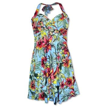 Sunny Blue Napali Hawaiian Dress