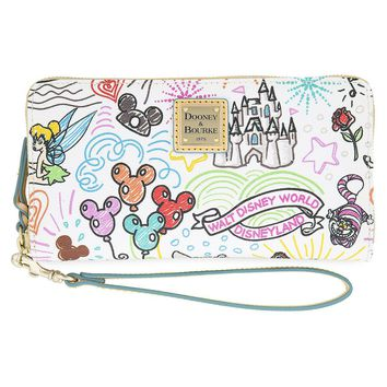Disney Parks Sketch Wallet by Dooney & Bourke Fantasyland Castle New with Tags
