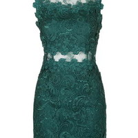 Premium Lace Bodycon Dress - Bottle