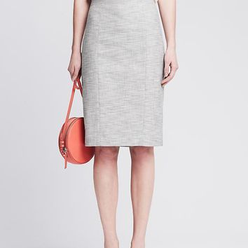 Banana Republic Womens Tweed Long Pencil Skirt
