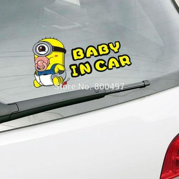 Newest Minions Despicable Me Baby in Car  Stickers Car Decal for Toyota  Chevrolet Volkswagen Tesla  Kia Lada