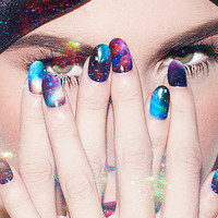 The NCLA x Nailing Hollywood Stephanie's Galaxy Nail Wrap