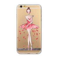 Ballet dancer mobile phone case for iPhone7 7S 7 7Splus iphone 5 5s SE 6 6s 6 plus 6s plus + Nice gift box 072701