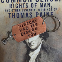 HAMILTON Broadway HISTORY Has It's Eyes on You CHARM Keychain