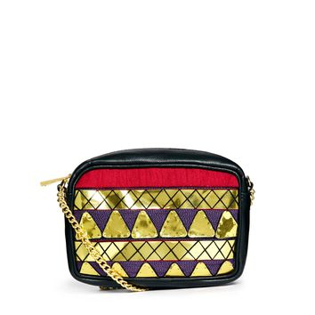 ASOS Cross Body Bag With Metallic Triangle Embellishment