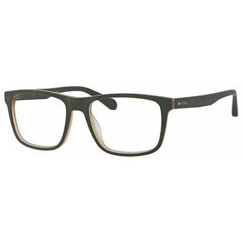Fossil - Fos 7027 Matte Green Military Eyeglasses / Demo Lenses