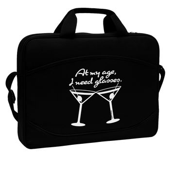 """At My Age I Need Glasses - Martini 15"""" Dark Laptop / Tablet Case Bag by TooLoud"""