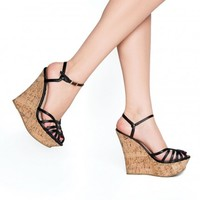 Pamela Wedge in Black