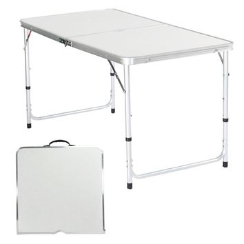 Indoor Outdoor Folding Portable Table Plastic Picnic Party Dining Camping Height-Adjustable Desk #2520