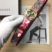 GP6Q Gucci Floral Belt