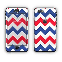 The Patriotic Chevron Pattern Apple iPhone 6 Plus LifeProof Nuud Case Skin Set