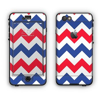 The Patriotic Chevron Pattern Apple iPhone 6 LifeProof Nuud Case Skin Set