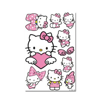 Sticker and Decal 4 Kinds of Hello Kitty Series Lovely Decals Suitcase Laptop Refrigerator Sticker (non water-proof)