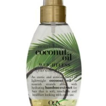 Organix Weightless Hydrating Oil Mist, Nourishing Coconut, 4 Ounce