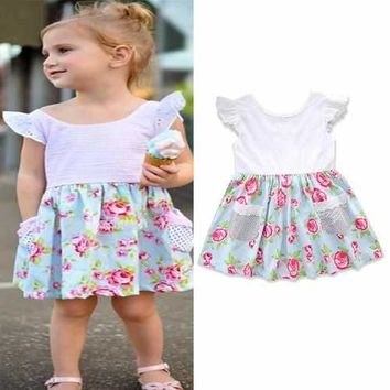 Floral Baby Girls Dress For 0-24M