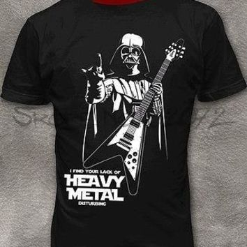 Star Wars Force Episode 1 2 3 4 5  Men's T-shirt Darth Vader Heavy Metal Funny Cotton Tee Shirt M - 2XL AT_72_6