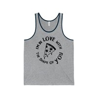 Funny Gym Pizza Shirt/Unisex Jersey Tank