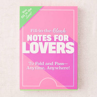 Fill-In-The-Blank Notes For Lovers | Urban Outfitters