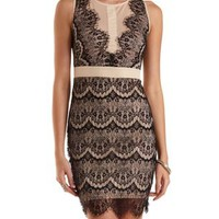 Sleeveless Scalloped Lace Dress by Charlotte Russe
