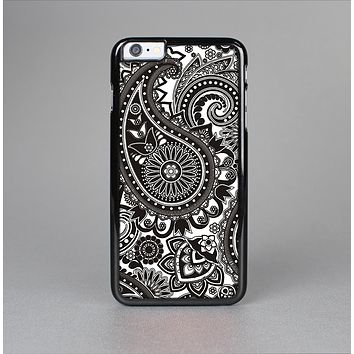 The Black & White Paisley Pattern V1 Skin-Sert for the Apple iPhone 6 Skin-Sert Case