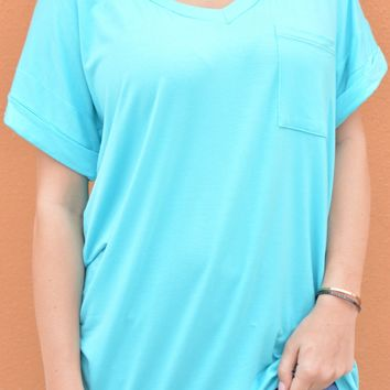Not Your Boyfriends Tee - Turquoise