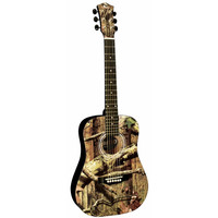 "Mossy Oak 34"" Acoustic Guitar W/ Orange Bag"