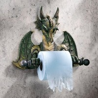 Design Toscano CL45492 Commode Dragon Tyrant Bath Tissue Holder