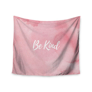 "KESS Original ""Be Kind"" Pink White Wall Tapestry"