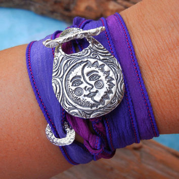 Sun and Moon Wrap Bracelet