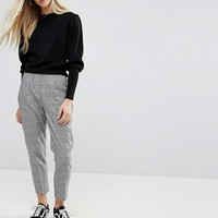 New Look Pow Check Pull On Trousers at asos.com