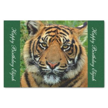 "Tiger Personalized Gift Wrapping Tissue Paper 10"" X 15"" Tissue Paper"