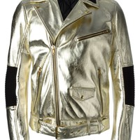 Moschino metallic biker jacket