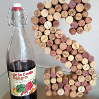 S is for SPRING Personalized wine cork letters-large size