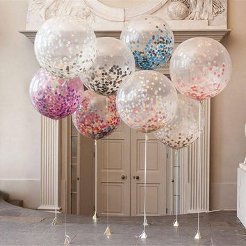 Confetti Balloons for Wedding, Proposal, Birthday Party Decorations, 5 PCs