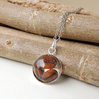 Coffee Beans Necklace, Real Coffee Beans Resin Pendant, Resin Jewelry, Food Drink Jewellery, Kitsch Jewelry, UK (280)