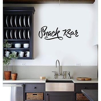 Wall Sticker Vinyl Decal Snack Bar Decor for Kitchen Home Food Unique Gift (g111)