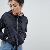 Bershka anorak in black at asos.com