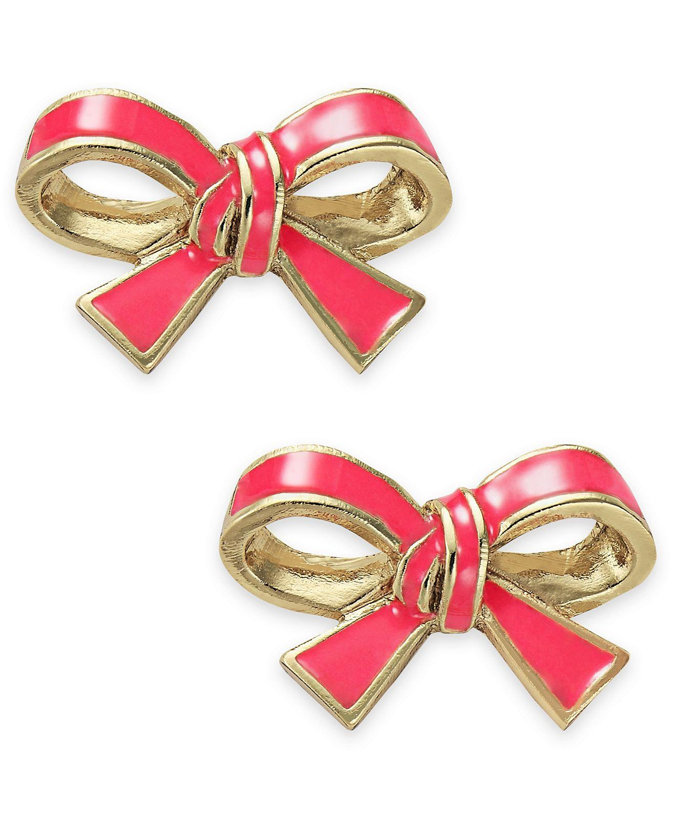 kate spade new york gold tone pink bow from macys jewelry