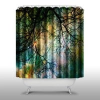 Pink Peri™ Forest Shower Curtain Handmade Home & Living Bathroom,70-Inch by 70-Inch