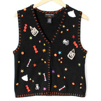 Trick Or Treat Candy Explosion Halloween Tacky Ugly Sweater Vest