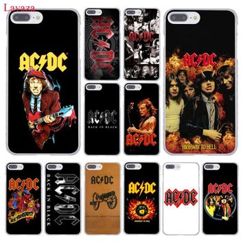 Lavaza ac dc acdc poster Malcolm Young Hard Coque Shell Phone Case for Apple iPhone 8 7 6 6S Plus X 10 5 5S SE 5C 4 4S Cover