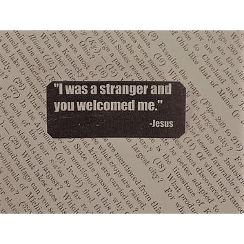 I Was a Stranger and You Welcomed Me Lapel Pin