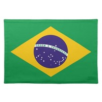 Brazil flag Brazilian Cloth Placemat