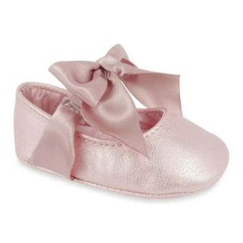 "Wendy Bellissimo™ ""Sarah"" Soft Sole Skimmer Prewalker Dress Shoes in Pink"
