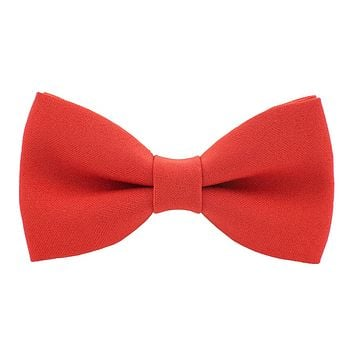 Fire Red Bow Tie