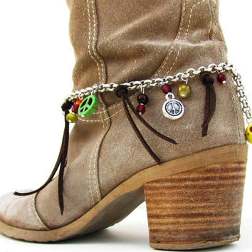 Ankle Bracelet, Boot Jewelry, Shoe Anklet , Foot Accessory Cowboy