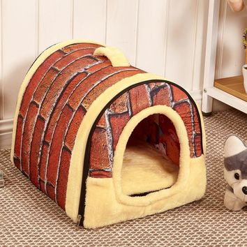 Dog Bed for Small And Large Dogs Houses Kennel Warm House Slippers Pet Dog Bed Detacha