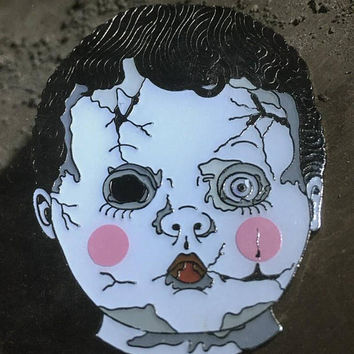 Creepy Baby Doll Pin - Demonic Pinfestations - Horror Decor