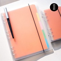 2017 New Arrives Business Brief Fashion Spiral Notebook PVC Cover A6/A5/B5 Line Note 80P School Office Supplies