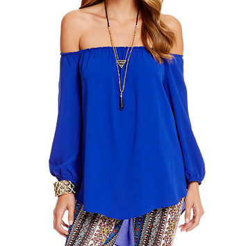 Moa Moa Off-The-Shoulder Peasant Top | Dillards